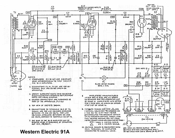 we91a  Tube Radio Schematic on